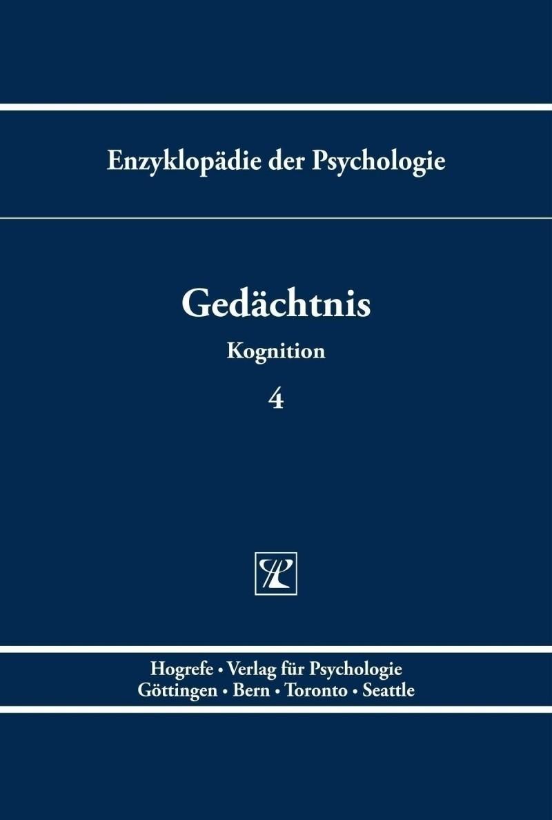Cover of Gedächtnis. Enzyklopädie der Psychologie, Themenbereich C, Serie II, Band 4