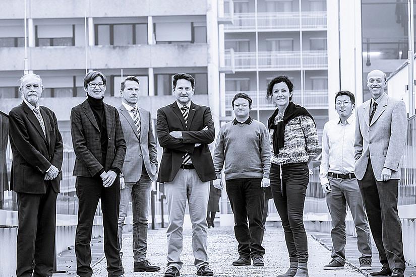 Neue FWF-Forschungsgruppe - Gruppenfoto Albert, Kubicek, Semlitsch, Schreck, Bedek, Siebenhofer-Kroitzsch, Shao, Jeitler